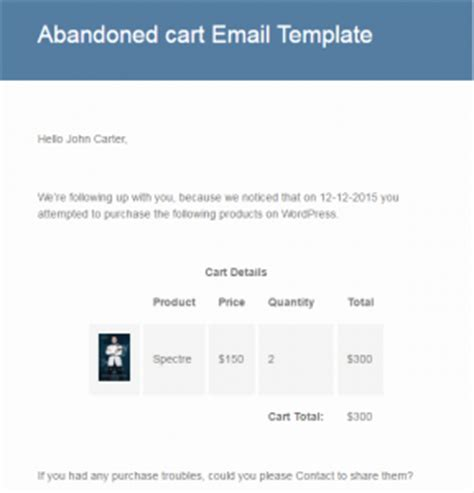 Sending Unique Email Templates Tyche Softwares Documentation Abandoned Cart Email Template