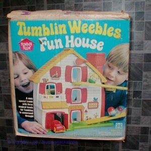 hasbro toys weebles  tumblin weebles fun house