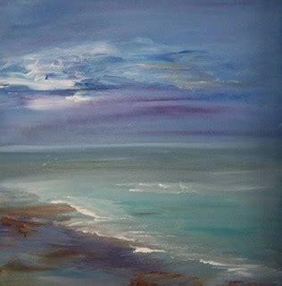 original acrylic seascape painting  sheri wilson hall