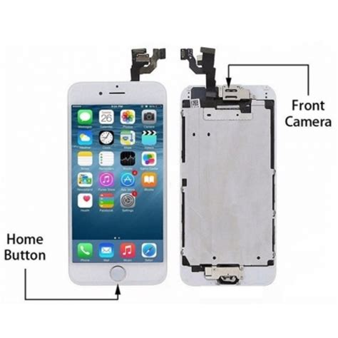 Lcd Touchscreen Iphone 55g iphone 6 lcd touch screen digitizer complete with and home button white