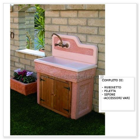 lavabi da giardino lavabo da esterno monviso aq7000r lavandini da esterno