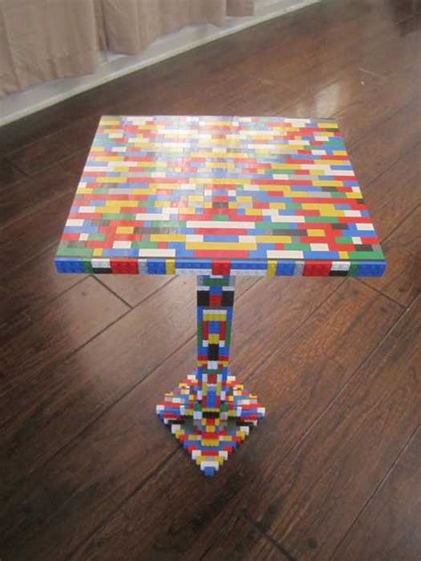 Lego Table Ideas by Glass Top Dining Table With Lego Parts Offers Unique