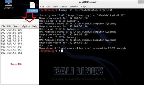 nmap tutorial scan list scan by nmap in kali linux cyber pratibha blog