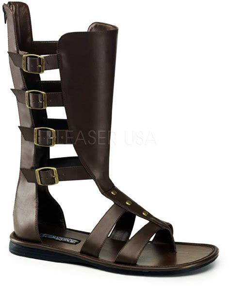 spartan sandals trojan spartan warrior buckle mid calf gladiator