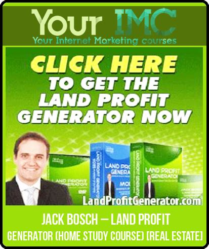 bosch land profit generator home study course