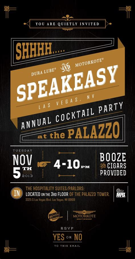 Speakeasy Invite In Print Pinterest Colors And Color Combos Speakeasy Invitation Template Free