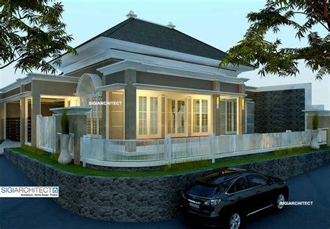 desain rumah pojok denah new desain rumah depan klasik