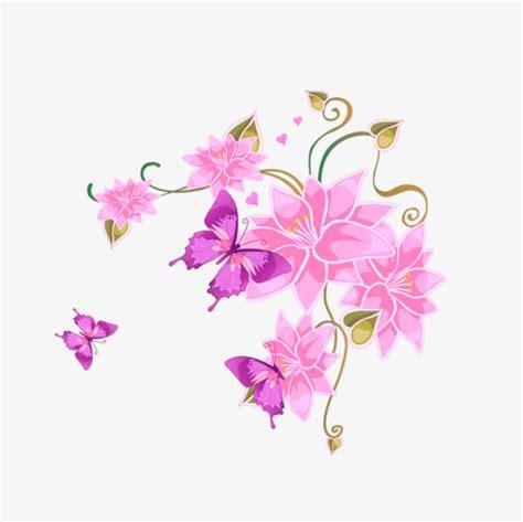 imagenes de mariposas color rosa dibujos de flores de color rosa mariposa cartoon creativo