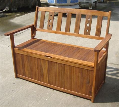 wooden garden storage bench uk garden storage bench box wood outdoor patio furniture fsc