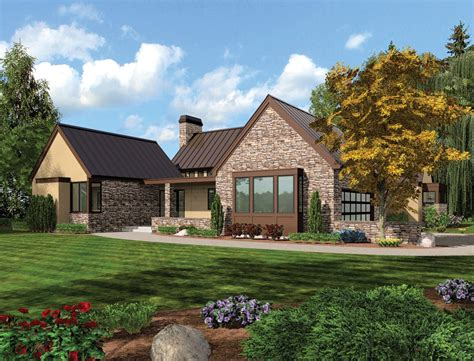 Single Story Farmhouse Plans House Plan The Saxon Single Story House Plans With