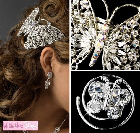 Butterfly Hair Accessories For Weddings by Wednesday Wedding Accessory Butterfly Hair Twist Ins