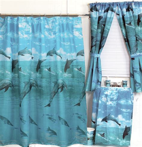 dolphin curtains dolphin fabric shower curtain jumping dolphin blue kids