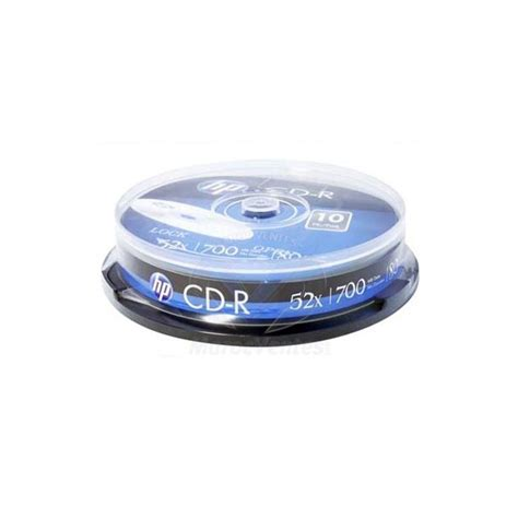 Cd R 52x Hp Slim 10 Pcs cd r 52x 700mb hp cre00019 3 tarrina 10 unidades