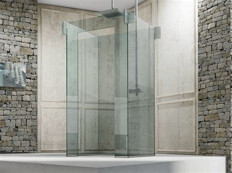 cabine doccia glass free standing glass shower cabin icona island by megius