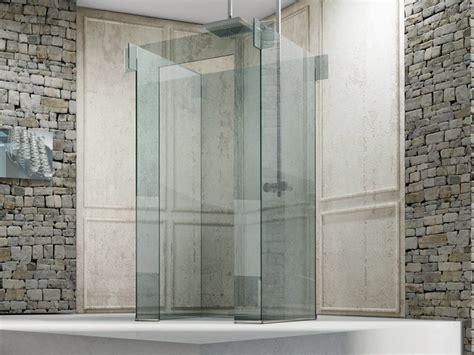 cabine doccia glass free standing glass shower cabin icona island by megius