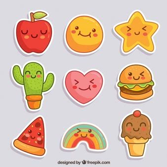 Smiley Sticker Free Download by Smiley Stickers Vector Free Download