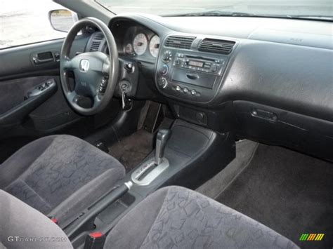 Civic 2002 Interior by Black Interior 2002 Honda Civic Ex Coupe Photo 40725142