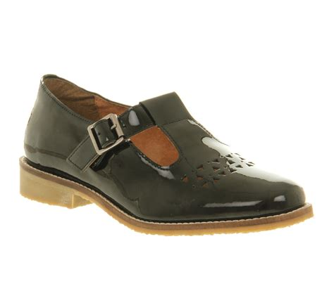t flat shoes womens office paintbox tbar black patent leather flats ebay
