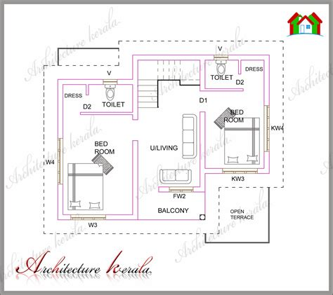 kerala home design layout a small kerala house plan architecture kerala