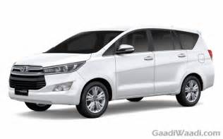 new innova car price 2016 toyota innova crysta petrol and diesel specs