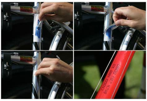 Polizei Aufkleber Fahrrad Entfernen by K 252 Nstliche Dna Fahrrad Markierung