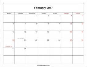 february 2017 planner