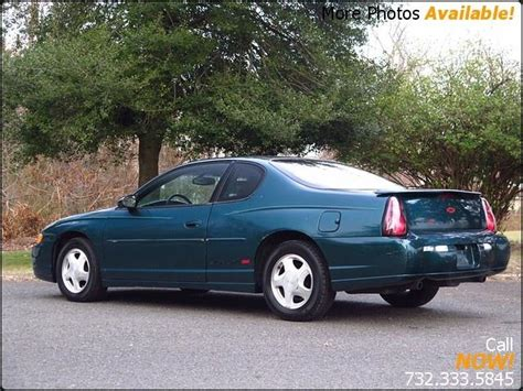 purchase used 2000 chevy mont carlo ss orig 70 000 mi blk v6 leath pwr heated seats cold air green chevrolet monte carlo for sale 58 used cars from 899