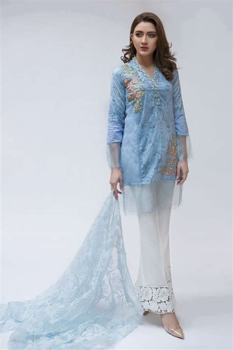 Latest Maria B Pret Stitched Summer Dresses Designs 2018 19 Collection