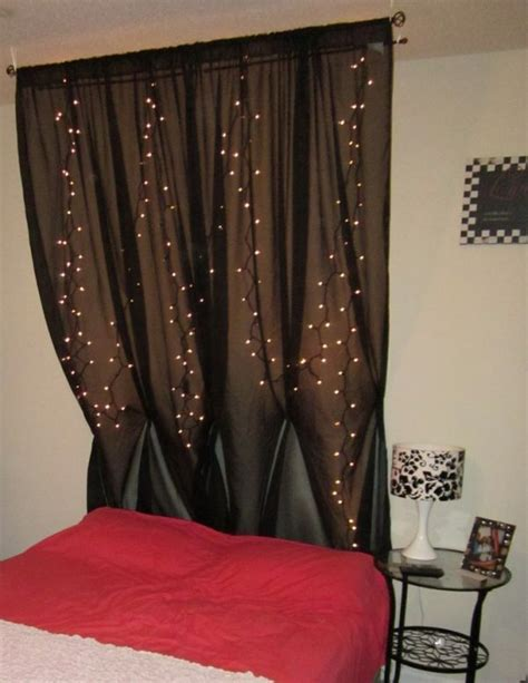 sheer curtains with lights behind best 25 curtain behind headboard ideas on pinterest