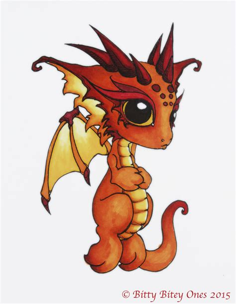 orange bitty bitey baby dragon by bittybiteyones on deviantart