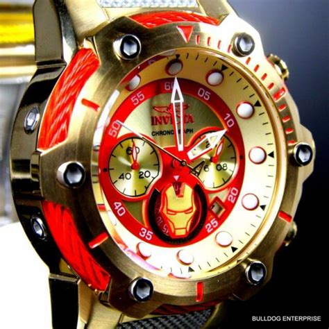 invicta mm marvel iron man bolt quartz chronograph