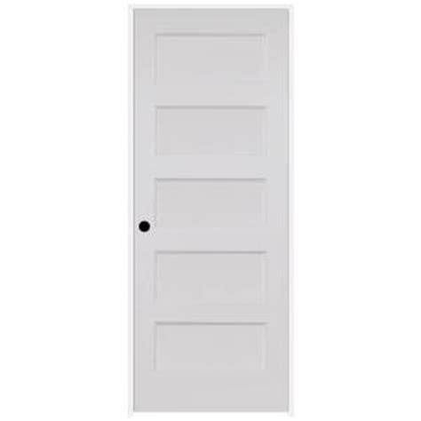 calhome 30 in x 80 in white primed mdf raised 2 panel steves sons 30 in x 80 in ultra primed white right hand