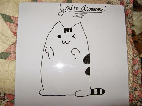 Easy Things To Draw On A Whiteboard by Daily Pusheen Swagger And Awesome The Tulgey Wood