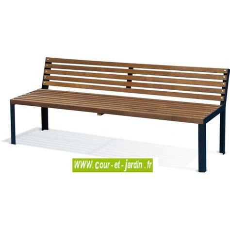 Banc De Jardin En Bois by Banc De Jardin Bois Et M 233 Tal Ext 233 Rieur Design Pas Cher