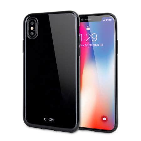 olixar flexishield iphone x gel jet black