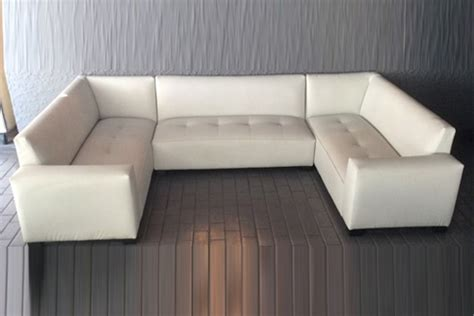 couch u white leather u shape couch with arms 6 seater cou011