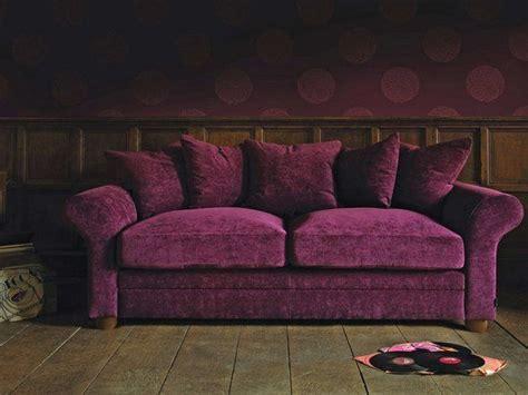aubergine velvet sofa curved arm cotton velvet sofa violet purple plum
