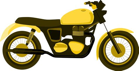 motorcycle clipart yellow clipart motorbike pencil and in color yellow