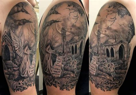 graveyard back tattoo 23 graveyard tattoo images pictures and designs gallery
