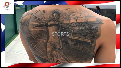 all city tattoo leroy sane manchester city gets ink of