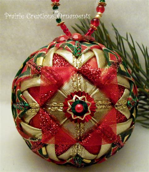 images of quilted christmas balls red and gold folded ribbon quilted christmas ball ornament
