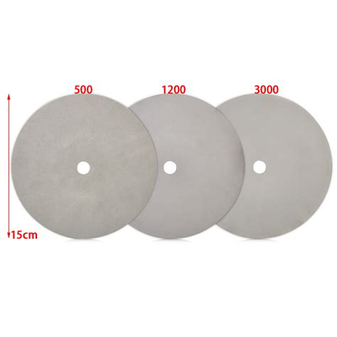 Polishing Grind Disk Disc Kanaya 6 Inch 6 quot coated flat wheel for lapidary