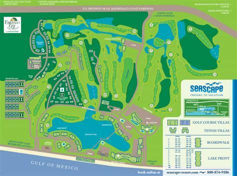 florida resorts map destin florida seascape resort map seascape resort