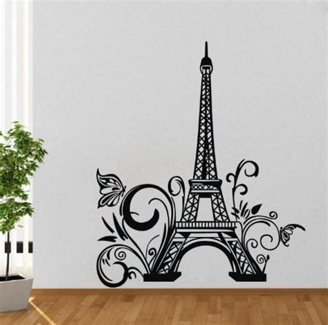paris wall stickers for bedrooms olivia huge eiffel tower paris city france wall decals