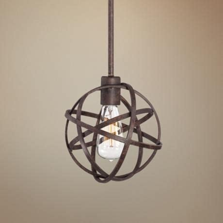 bronze pendant lights industrial atom 8 quot wide edison bronze mini pendant light