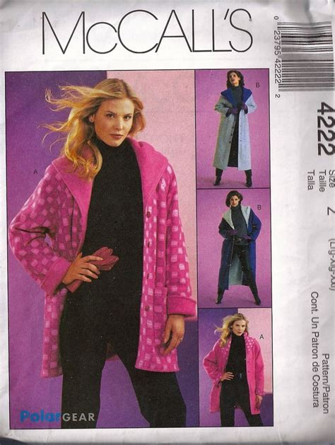 sewing pattern reversible quilted jacket mccalls sewing pattern 4222 plus size reversible jacket