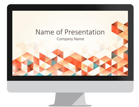 powerpoint templates for geometry geometric triangles powerpoint template presentationdeck com