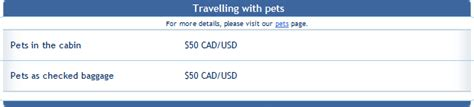 Westjet Pet Policy In Cabin by Westjet Pet Policy 2017 Airline Pet Policies