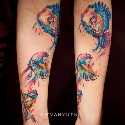 watercolor tattoos in toronto chronic ink toronto watercolour chickadee