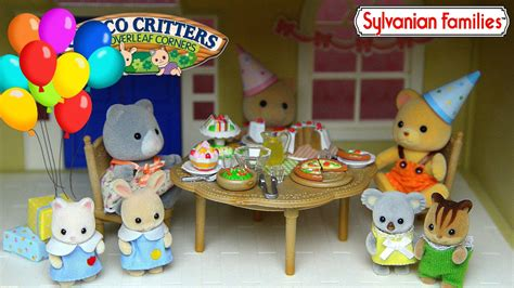 sylvanian families calico critters party set   grand hotel cloverleaf manor kids toys